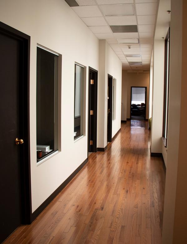 hallway to office